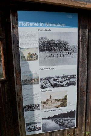 Flößerei in München