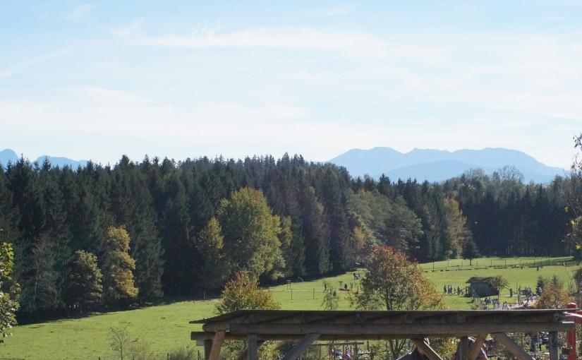 Tierpark mit Alpenpanorama