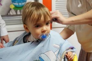 erster Friseurbesuch