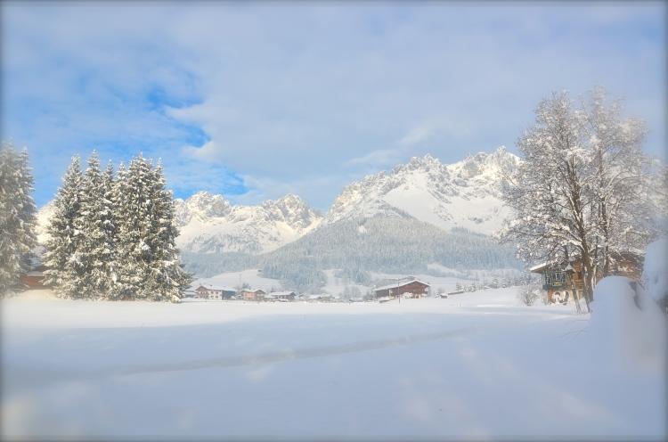 Schnee am wilden Kaiser