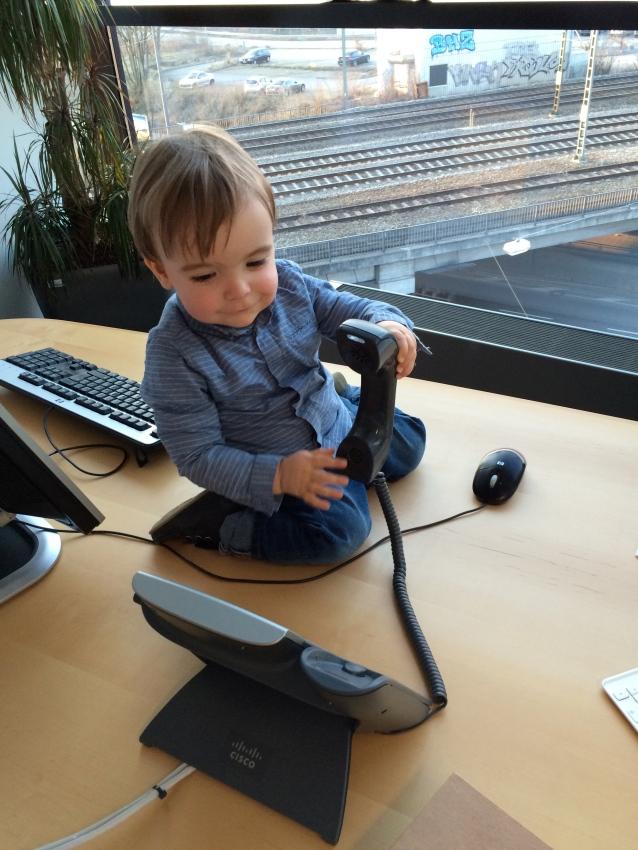 Baby im Büro