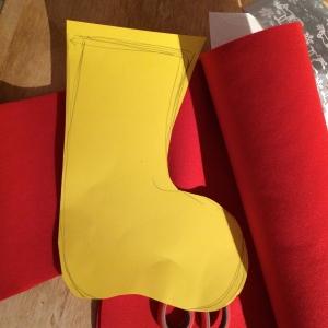 Schablone Stiefel