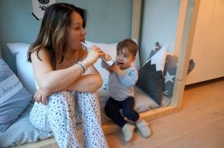Zähne putzen mit den Kids