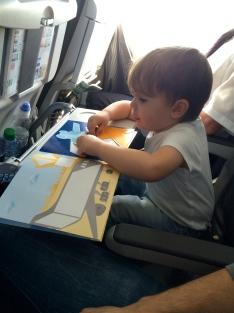Lufthansa mit Kind